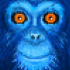 Dark Blue Monkey