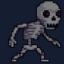 skeletal blanket man